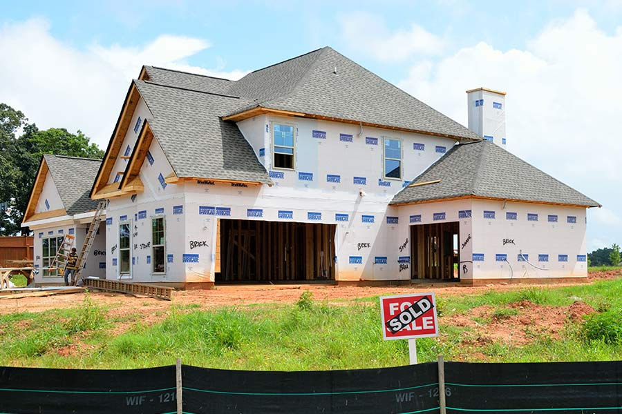 House being built on sold land