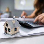 Homeowner calculating taxes